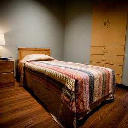 Semi-private accommodations offer patients the opportunity to interact with others and gain support in the healing process.